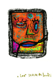 """""""Lord"""" Werkverzeichnis 1.815 Datiert 21.12. 98 PC-Zeichnung und Tintenstrahldruck auf Papier Maße b 10,5 cm * h 15,0 cm"""
