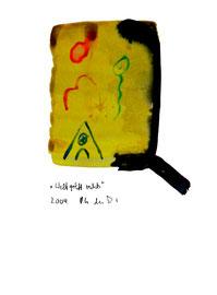 """""""Weltgriff rechts"""" / WVZ 3.669 / Datiert 2004 / Aquarell und Tusche auf Papier / Maße b 30,0 cm * h 42,0 cm"""