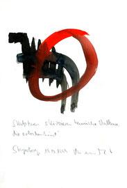 """""""Vulkane"""" / Werkverzeichnis 2.331 / Datiert Steyerberg, 19.10.99 / Aquarell, Tusche und Text auf Papier / Maße b 21,0 cm * h 29,7 cm"""