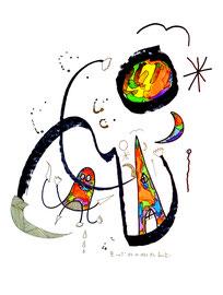 """III """"o. T."""" 03.11.95 / WVZ 824 Filzstift, Tusche und Aquarell auf Papier b 30 cm * h 40 cm"""
