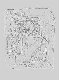 """""""Relief 10 / 2016"""" WVZ 4225 a / datiert 2016 Limitierter Fine-Art-Print 1 v. 5 nach Abruf auf Hahnemühle Museum-Etching-350g-Papier (oder ähnlich) Maße b 40 cm * h 55,0 cm"""