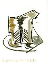 """""""Brustraum, noch weiblich"""" / Werkverzeichnis 1.223 / datiert 1997 / verschiedenfarbige Kohlen auf Papier / Maße jeweils b 24,0 cm * h 32,0 cm"""