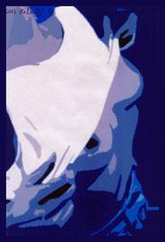 """""""Anita - weiblicher Akt"""" / WVZ Nachträge / datiert 2002 / Fotoveränderung auf Fotopapier / Größe b 21,0 cm * 29,7 cm"""