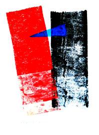 """""""Rollenecho der Bauminnenrinde II"""" / Werkverzeichnis 855 / aus 12/95 / Größe b 31,5 cm * h 48,0 cm"""