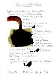 """""""Kommender Jahreswechsel"""" / Werkverzeichnis 2.333 / Datiert Steyerberg, 19.10.99 / Aquarell, Tusche und Text auf Papier / Maße b 21,0 cm * h 29,7 cm"""