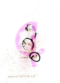 """""""Brandmal"""" I / Werkverzeichnis 3.197 / B., 21.09.00 / Tusche, Feuer und Aquarell auf Papier / Maße b 21,0 cm * h 29,7 cm"""