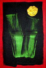 """Hoffnung I"" / WVZ 3.664 / datiert 2004 / Öl- und Mischtechnik auf Leinwand / Maße b 50,0 cm * h 70,0 cm / Verkauft an Dirk Tielbürger."