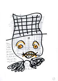 """""""Weg"""" / WVZ 3.215 / datiert jeweils 23.10.00 / Text, Bleistift und Filzstift auf Papier / Maße b 21,0 cm * h 29,7 cm"""