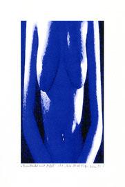 """""""Brustbild mit Nabel"""" / WVZ 3.613 / datiert 18.08.2003 / Am PC bearbeitetes Foto als Tintenstrahldruck auf Papier / Maße b 21,0 cm * h 29,7 cm"""