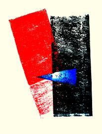 """""""Rollenecho der Bauminnenrinde III"""" / Werkverzeichnis 856 / aus 12/95 / Größe b 31,5 cm * h 48,0 cm"""