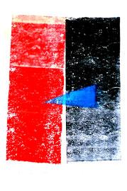 """""""Rollenecho der Bauminnenrinde I"""" / Werkverzeichnis 854 / aus 12/95 / Größe b 31,5 cm * h 48,0 cm"""