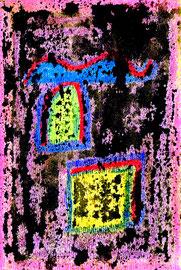 """""""o. T."""" / Werkverzeichnis 1.280 / datiert 02.02.97 / Ölkreide und Aquarell auf Papier / Maße b 12,0 cm * h 18,0 cm"""
