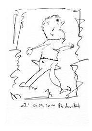 """""""o. T."""" Sayalonga, 06.07.2014 Bleistiftzeichnung auf Papier. b 24,0 cm * h 32,0 cm. Werkverzeichnis 4194"""