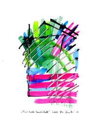 """""""Fast kalte Landschaft"""" / Serie v. 13 Arbeiten / hier 13/13 WVZ 3.762 / datiert 2005 / Tusche, Tinte und Aquarell auf Papier / b 30,0 cm * h 42,0 cm"""