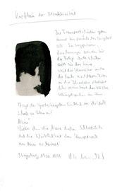 """""""Kopfbau der Attraktivität"""" / Werkverzeichnis 2.332 / Datiert Steyerberg, 19.10.99 / Aquarell, Tusche und Text auf Papier / Maße b 21,0 cm * h 29,7 cm"""