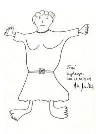 """""""Frau"""" Bleistiftzeichnung auf Papier b 24,0 cm * h 32,0 cm Sayalonga, den 11.10.2014 Werkverzeichnis 4197"""