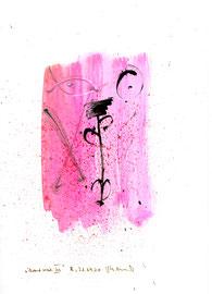 """""""Brandmal"""" III / Werkverzeichnis 3.199 / B., 21.09.00 / Tusche, Feuer und Aquarell auf Papier / Maße b 21,0 cm * h 29,7 cm"""
