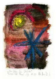 """""""Von über den Sternen"""" / Werkverzeichnis 3.739 / datiert Torre del Mar, 22.11.04 / Aquarell, Kreide und Bleistift auf Papier / Maße b 23,0 cm * 31,0 cm"""