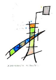 """""""transformis A"""" / Werkverzeichnis 1.576 / datiert 15.04.98 / Kohle und Aquarell auf Papier / Maße b 30,0 cm * h 40,0 cm"""