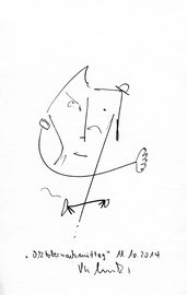 """""""Oktobernachmittag"""" Bleistiftzeichnung auf Papier B 12,0 cm * h 16,0 cm 11.10.2014 Werkverzeichnis 4199"""