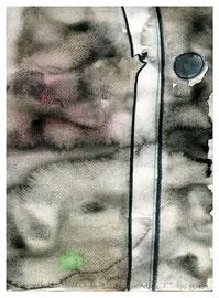 """""""Masse = Energie x dem Quadrat der Lichtgeschwindigkeit"""" 3 Werkverzeichnis 1.663 / datiert 5/98 / Kohle und Aquarell auf Papier / Maße b 24,0 cm * h 32,0 cm"""