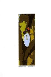 """""""Gezeitenstudie I"""" Werkverzeichnis 2.340 / datiert 11/99 / Fotoveränderung als Tintenstrahldruck auf Papier / Maße b 21,0 cm * h 29,7 cm"""