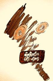 """""""Kriegsfratze"""" / WVZ Nachträge / datiert 2018 / Limitierter Fine-Art-Print 1 v. 5 nach Abruf auf Hahnemühle Museum-Etching-350g-Papier (oder ähnlich) Maße b 80,0 cm * h 100,0 cm"""