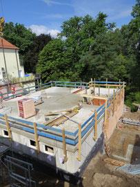 Beginn der Baumeisterarbeiten Erdgeschoss