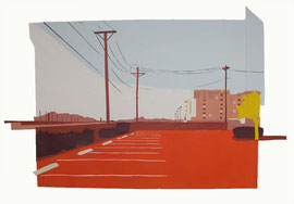 Parking Lot - Early Morning (70x50cm)