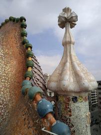 Dach der Casa Batlló (von Antoni Gaudí), Barcelona