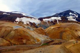 Kerlingarfjöll: Tafelvulkane aus Rhyolith-Gestein mit heißen Quellen, Island