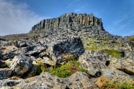 Borgarvirki: natürliche Basaltfestung, Island
