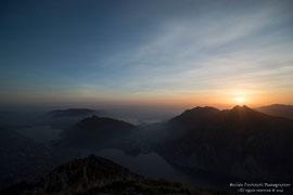aspettando il tramonto dal Monte Coltignone