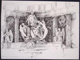 Parijs, La Madeleine, stift, potlood, A4, 2006