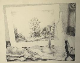 Stilleven, 1977, Rotringpen