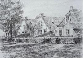 º Schier, Langestreek, potlood, ca. 15x18cm