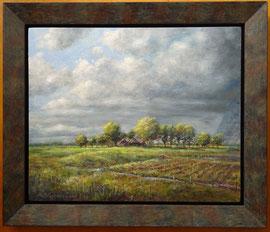 ºOud landschap met boerenplaats, o/a/p, 33x27cm