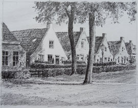 Schier, Langestreek, potlood, 16x12,5cm