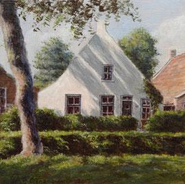 º Wit huis, Langestreek, o/a/p, 20x20cm
