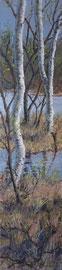 º Berken, tegen het voorjaar, a/p, 28x122 cm