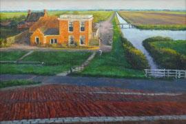 º Noordpolderzijl, avond, o/a/p, 43,5x30cm