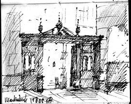 Martinikerk, stift, 10x7cm