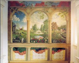 Wandschildering thuis, ca. 300x 288, olieverf op paneel, 1996-2000