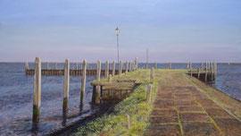Jachthaven-pier, o/a/p, 100x52cm