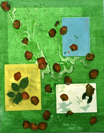 "Petals and Leaves  16"" x20"" / 花与叶  41 x 51cm, 2002"