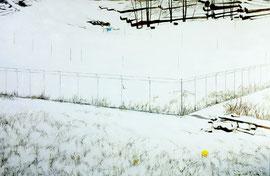 "Snow III, 24""x36"" / 雪,61cm x91.5cm, 2012"