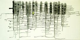 """My Music, 12""""x24""""/ 我的音乐 30.5 x 61cm,  2009"""