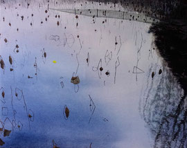 "Dusk on the West Lake 01, 24"" x 30"" / 西湖黄昏 01, 61 x 76cm, 2011"