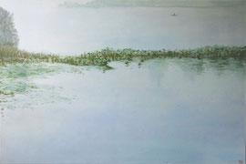 """A Foggy Morning, 24""""x36""""/ 晨霧,61cm x 91.5cm, 2014"""
