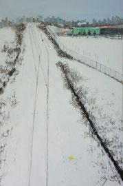 "Snow V, 24""x36"" / 雪V, 61cm x91.5cm, 2012"